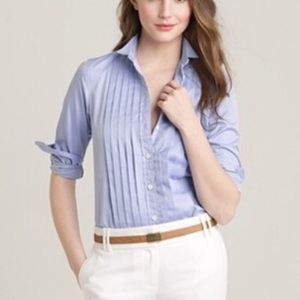 J. Crew tuxedo work shirt in blue